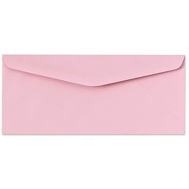 LUX Moistenable Glue #9 Regular Envelopes (3 7/8 x 8 7/8) 250/Box, Pastel Pink (73031-250)