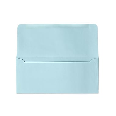 LUX Moistenable Glue - #9 Remittance Envelopes (3 7/8 x 8 7/8 Closed) - 500/Pack - Pastel Blue (R2176-500)