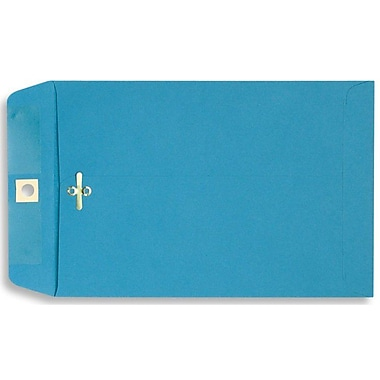 LUX® 10in. x 13in. Open End Clasp Envelopes, Bright Blue, 100/Pack