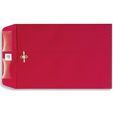 LUX® 10in. x 13in. Open End Clasp Envelopes, Holiday Red, 100/Pack