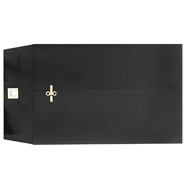 LUX® 10in. x 13in. Open End Clasp Envelopes, Midnight Black, 100/Pack
