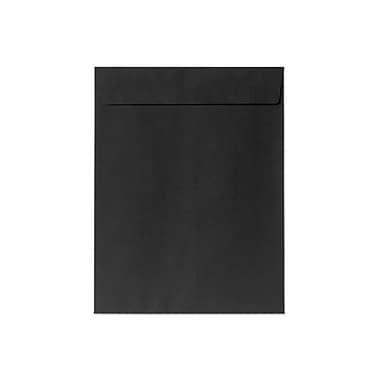 LUX 10 x 13 Open End Envelopes 50/Box, Black Linen (4897-BLI-50)