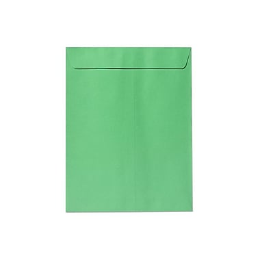 LUX® 60lbs. 10in. x 13in. Open End Envelopes W/Glue, Bright Green, 500/BX