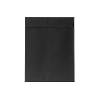 LUX® 80lbs. 10in. x 13in. Open End Envelopes, Midnight Black, 500/BX