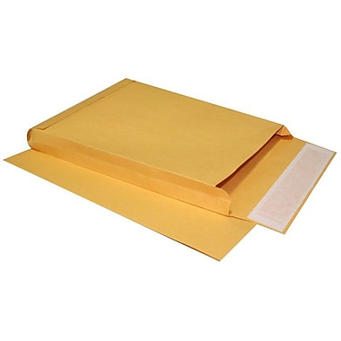 LUX® 10in. x 13in. x 1 1/2in. 40lbs. Expansion Envelopes, Brown Kraft, 250/Pack