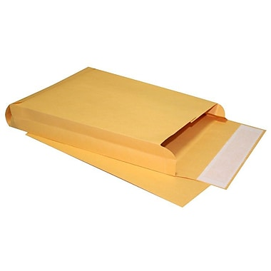 LUX® 10in. x 13in. x 2in. 40lbs. Expansion Envelopes, Brown Kraft, 250/Pack