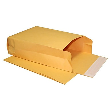 LUX® 10in. x 13in. x 4in. 40lbs. Expansion Envelopes, Brown Kraft, 250/Pack