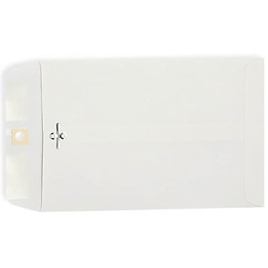LUX® 12in. x 15 1/2in. Open End Clasp Envelopes, Bright White, 50/Pack