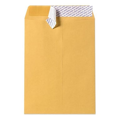 LUX® 28lb 10in.x13in. Open End Envelopes With Peel&Seal, Brown Kraft, 1000/BX