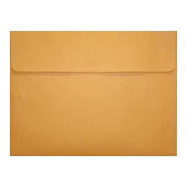 LUX® 12in. x 15in. Self-Adhesive Closure Document Envelopes, Brown Kraft, 250/Pack