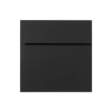 LUX 5 1/2 x 5 1/2 Square Envelopes 50/Box, Black Linen (8515-BLI-50)