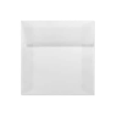 LUX 5 1/2 x 5 1/2 Square Envelopes 1000/Box, Clear Translucent (8515-50-1000)