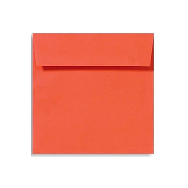 LUX 5 1/2 x 5 1/2 Square Envelopes 500/Box, Tangerine (LUX-8515-112500)