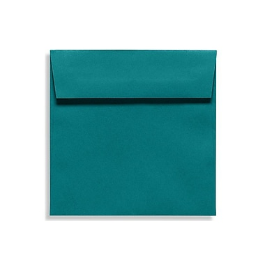 LUX® 70lb 5 1/2in.x5 1/2in. Square Flap Envelopes W/Peel&Press, Teal Blue, 1000/BX