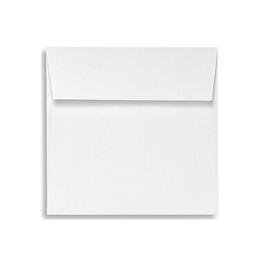 LUX 5 1/2 x 5 1/2 Square Envelopes 500/Box, White Linen (8515-WLI-500)