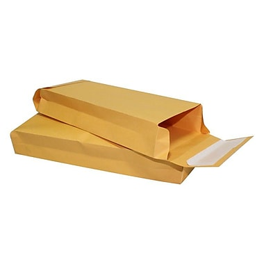 LUX® 80lbs. 5in. x 11in. x 2in. Expansion Envelopes W/Zip Stick Closure, Brown Kraft, 250/BX