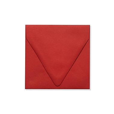 LUX 5 x 5 Square Contour Flap Envelopes 500/Box) 500/Box, Ruby Red (EX-1840-18-500)