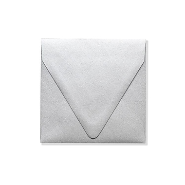 LUX® 5in. x 5in. 80lbs. Contour Square Envelopes W/Glue, Silver Metallic, 50/Pack