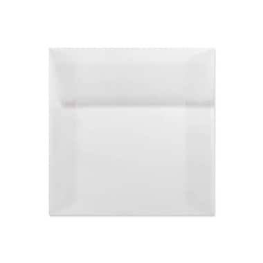 LUX 6 1/2 x 6 1/2 Square Envelopes 50/Box) 50/Box, Clear Translucent (8535-50-50)