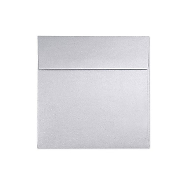 LUX® 6 1/2in. x 6 1/2in. 80lbs. Smooth Square Flap Envelopes W/Peel & Press, Silver Metallic