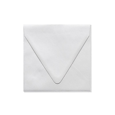 LUX 6 1/2 x 6 1/2 Square Contour Flap Envelopes 1000/Box, Crystal Metallic (1855-30-1000)