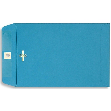 LUX® 6in. x 9in. Open End Clasp Envelopes, Bright Blue, 100/Pack