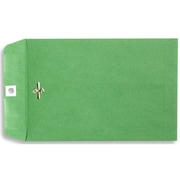 LUX® 6 x 9 Open End Clasp Envelopes, Bright Green, 100/Pack