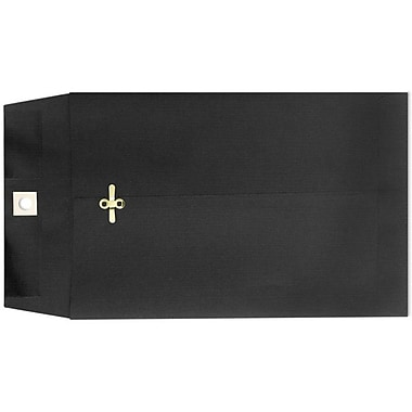 LUX® 6in. x 9in. Open End Clasp Envelopes, Midnight Black, 100/Pack