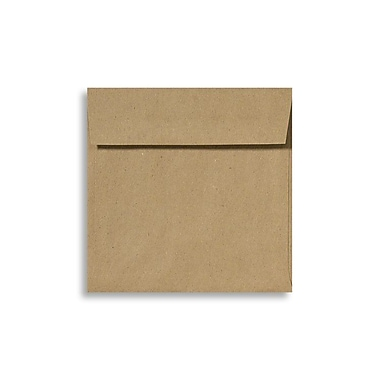 LUX Peel & Press 5 3/4 x 5 3/4 Square Envelopes 50/Pack, Grocery Bag Brown (8520-GB-50)