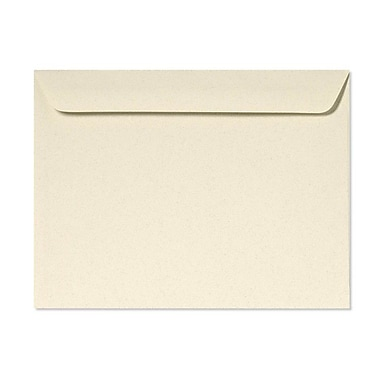 LUX® 9 1/2in. x 12 5/8in. Booklet Envelopes, Almond, 100/Pack