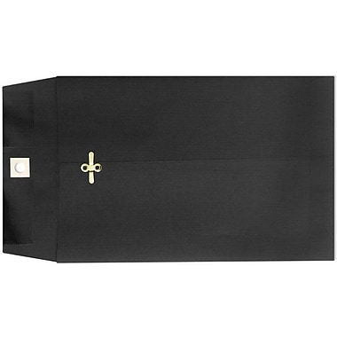 LUX® 9in. x 12in. Open End Clasp Envelopes, Midnight Black, 100/Pack