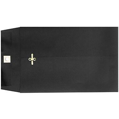 LUX 9 x 12 Clasp Envelopes 100/Box, Midnight Black (73854-100)