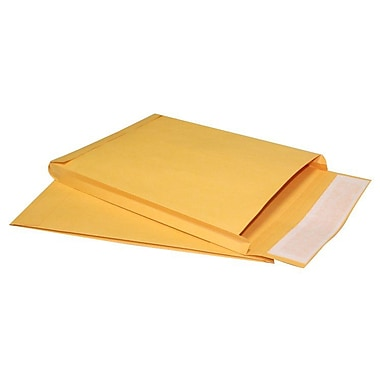 LUX® 9in. x 12in. x 1in. 40lbs. Expansion Envelopes, Brown Kraft, 250/Pack