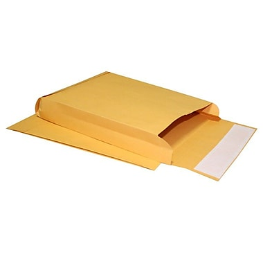 LUX® 9in. x 12in. x 2in. 40lbs. Expansion Envelopes, Brown Kraft, 250/Pack