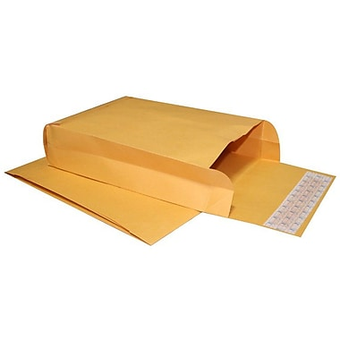 LUX® 9in. x 12in. x 3in. 40lbs. Expansion Envelopes, Brown Kraft, 250/Pack