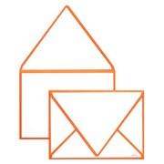 "LUX® 5 1/4"" x 7 1/4"" 80lbs. A7 Invitation Envelopes W/Glue, Mandarin Orange Seam, 50/Pack"