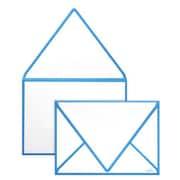"LUX® 5 1/4"" x 7 1/4"" 80lbs. A7 Invitation Envelopes W/Glue, Pool Blue Seam, 50/Pack"