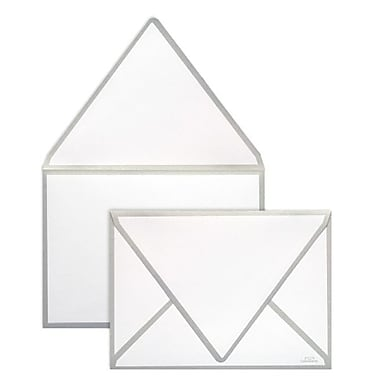 LUX A7 Colorseams Envelopes (5 1/4 x 7 1/4) 500/Box, Silver Seam (CS1880-06-500)