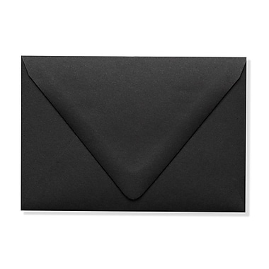 LUX A1 Contour Flap Envelopes (3 5/8 x 5 1/8) 1000/Box, Midnight Black (1865-B-1000)