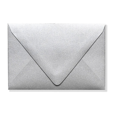 LUX A1 Contour Flap Envelopes (3 5/8 x 5 1/8) 500/Box, Silver Metallic (1865-06-500)