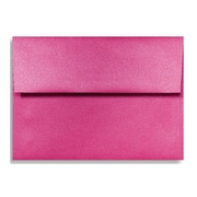 "LUX® 3 5/8"" x 5 1/8"" 80lbs. A1 Invitation Envelopes W/Glue, Azalea Metallic Pink, 50/Pack"