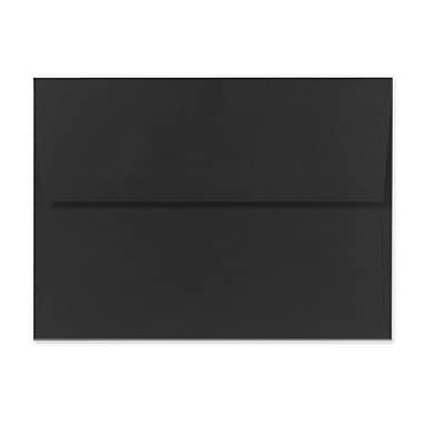 LUX A1 Invitation Envelopes (3 5/8 x 5 1/8) 500/Box, Black Linen (4865-BLI-500)