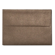 "LUX® 3 5/8"" x 5 1/8"" 80lbs. A1 Invitation Envelopes W/Glue, Bronze Metallic, 50/Pack"