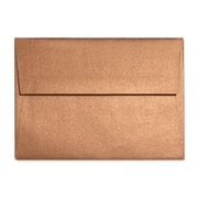 "LUX® 3 5/8"" x 5 1/8"" 80lbs. A1 Invitation Envelopes W/Glue, Copper Metallic, 50/Pack"