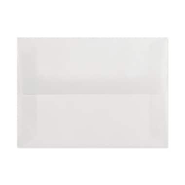 LUX A10 Invitation Envelopes (6 x 9 1/2) 50/Box, Clear Translucent (4890-00-50)