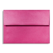"LUX® 4 3/8"" x 5 3/4"" 80lbs. A2 Invitation Envelopes W/Glue, Azalea Metallic Pink, 50/Pack"