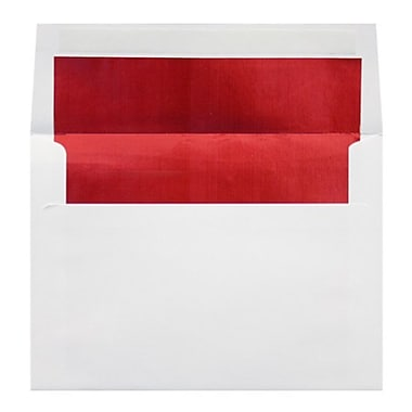 LUX A2 (4 3/8 x 5 3/4) 250/Box, White w/Red LUX Lining (FLWH4870-01-250)