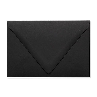 LUX A4 Contour Flap Envelopes (4 1/4 x 6 1/4) 250/Box, Midnight Black (1872-B-250)