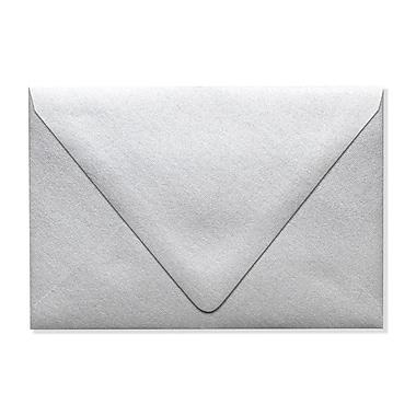 LUX A4 Contour Flap Envelopes (4 1/4 x 6 1/4) 500/Box, Silver Metallic (1872-06-500)