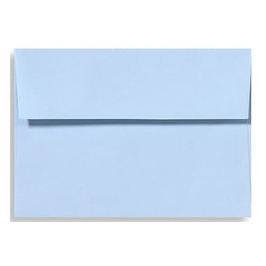 LUX A4 Invitation Envelopes (4 1/4 x 6 1/4) 500/Box, Baby Blue (LUX-4872-13-500)